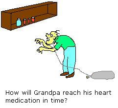 Grandpa can't reach his medication