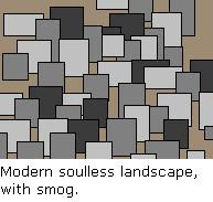 Modern soulless landscape, with smog